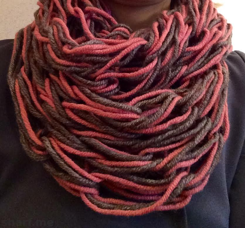 Как вяжут шарф без спиц